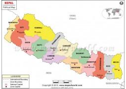 Nepal Political Map - Digital File