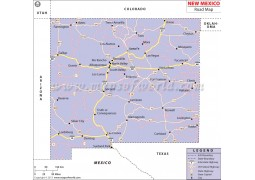 New Mexico Road Map - Digital File