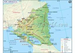 Nicaragua Map - Digital File