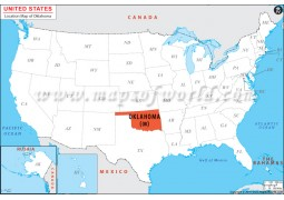 Oklahoma Location Map - Digital File