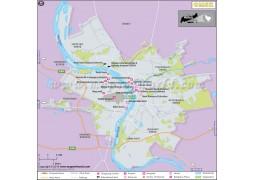 Omsk City Map - Digital File