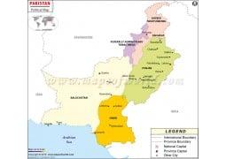 Pakistan Political Map - Digital File