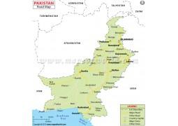 Pakistan Road Map - Digital File
