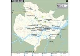 Palembang Map - Digital File