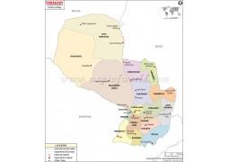 Political Map of Paraguay - Digital File