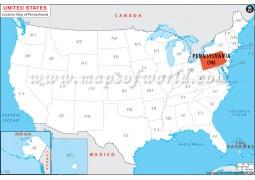 Pennsylvania Location Map - Digital File