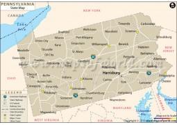 Pennsylvania State Map  - Digital File