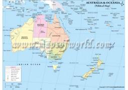 Political Map of Oceania - Digital File