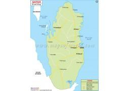 Qatar Road Map - Digital File
