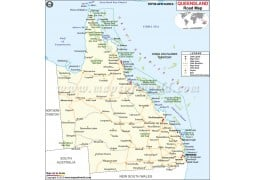 Queensland Road Map - Digital File