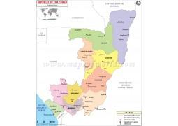 Republic Of Congo Political Map - Digital File