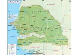 Senegal Map - Digital File