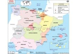 Political Map of Spain - Digital File