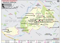 Stanford University California Map - Digital File
