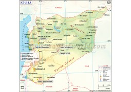 Syria Map - Digital File