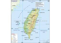 Taiwan Map - Digital File