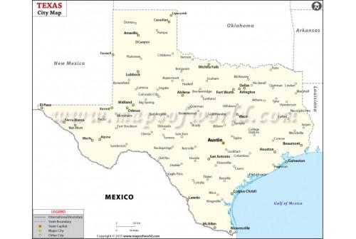 Texas City Map