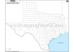 Texas County Outline Map