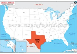 Texas Location Map - Digital File