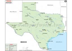 Texas River Map - Digital File