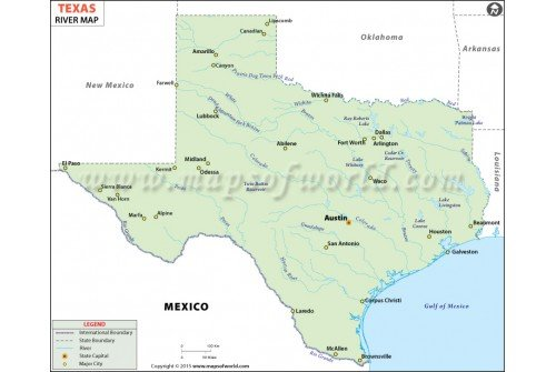 Texas River Map
