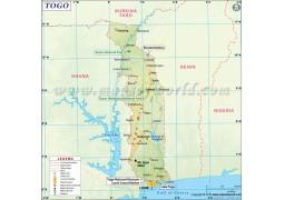 Togo Map - Digital File