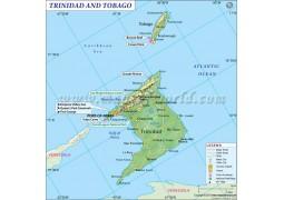 Trinidad And Tobago Map - Digital File