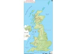 UK Mountains and Hill Ranges Map - Digital File