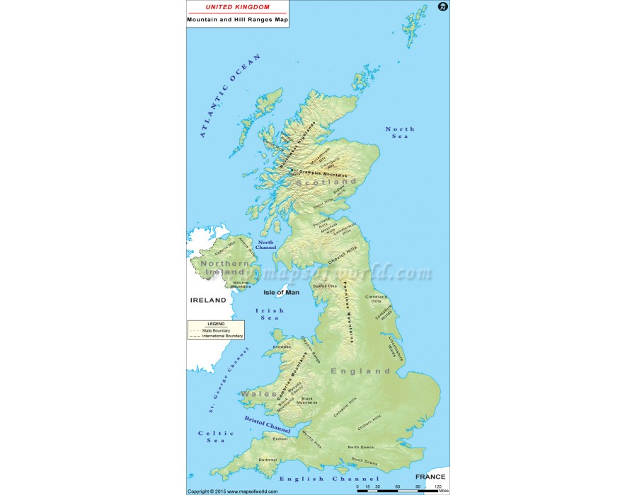 Map Of Uk To Buy.Buy Uk Mountains And Hill Ranges Map From Online Map Shop