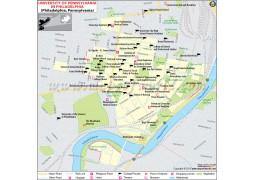 University of Pennsylvania in Philadelphia Map - Digital File