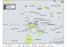 Uppsala City Map - Digital File