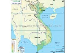 Vietnam Physical Map - Digital File