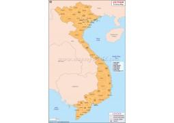 Vietnam Province Map - Digital File