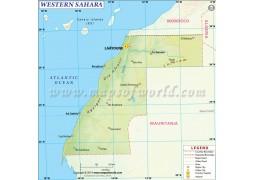 Western Sahara Map - Digital File