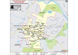 Williams College Massachusetts Map - Digital File