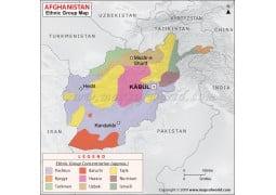 Afghanistan Ethnic Groups Map - Digital File