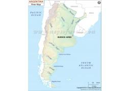 Argentina River Map