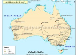 Australia Rail Map - Digital File