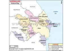 Azerbaijan Political Map - Digital File
