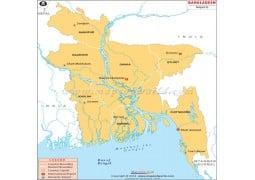 Bangladesh Airports Map - Digital File