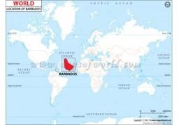 Barbados Location Map - Digital File