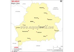 Belarus Map with Major Cities - Digital File