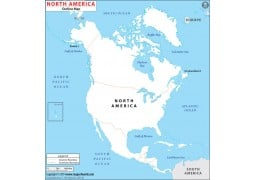 Blank Map of North America Continent - Digital File