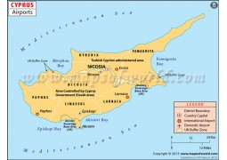 Cyprus Airports Map - Digital File