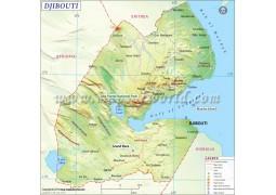 Djibouti Map - Digital File
