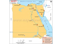 Egypt Airports Map - Digital File
