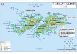 Falkland Islands Map - Digital File