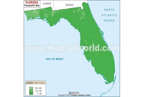 Florida Topographic Map