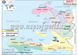 Haiti Political Map - Digital File