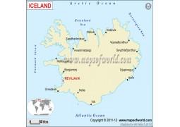Political Map of Iceland - Digital File